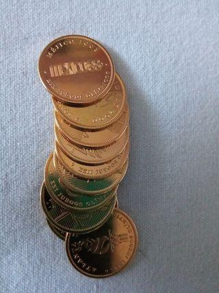 colección monedas chapadas en oro.