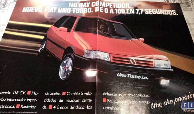 publicidad Fiat uno turbo