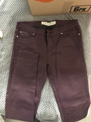 Trousers green and purple