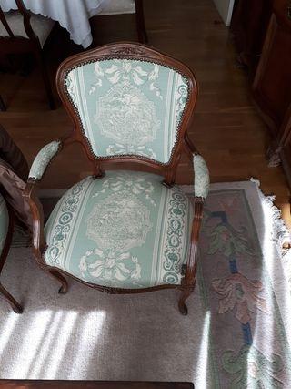 dos sillas barroca tipo frances