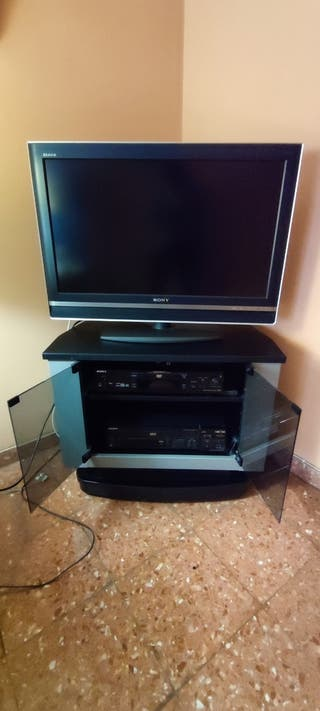 Televisor SONY + reproductor DVD + mueble