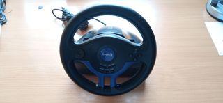 Volante Logic3 para PS2 con pedales