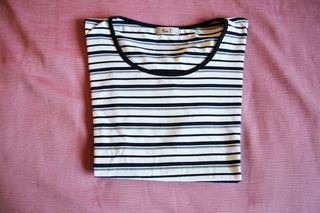 Top A de T Rayas Talla L Mujer Camiseta
