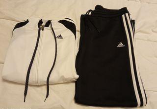 Chándal retro Adidas blanco y negro