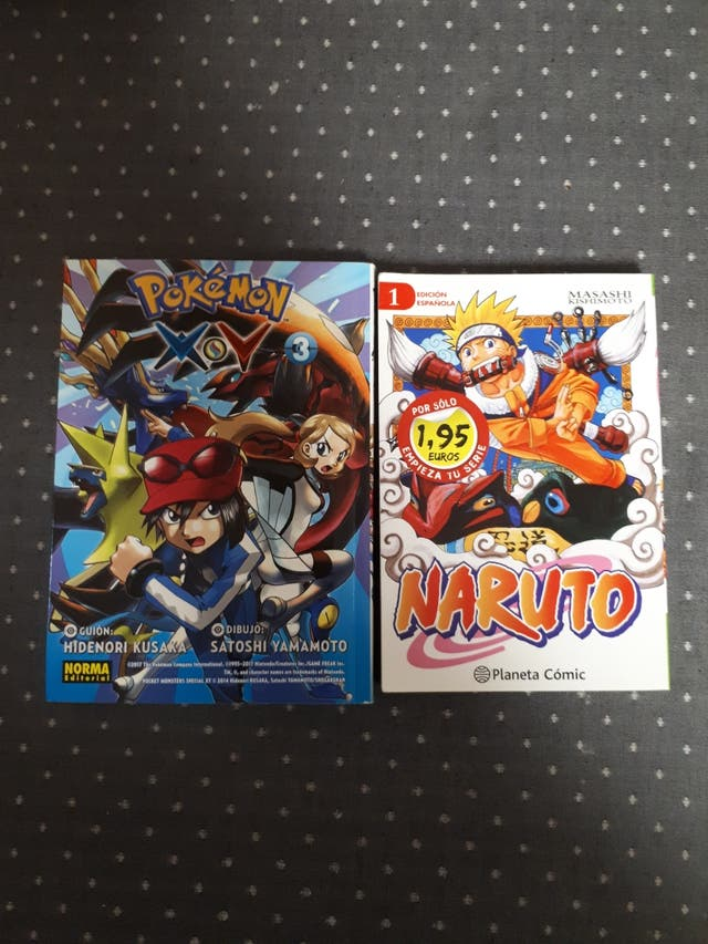 Comics Pokemon y Naruto