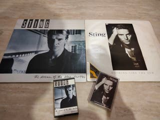 lote 2 vinilos y 2 cassettes STING