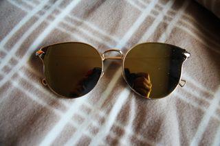 Gafas de Sol Espejo Redondas Doradas