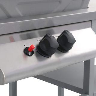Barbacoa portátil de gas con mesita de 3 estantes