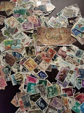 500 sellos de España usados distintos