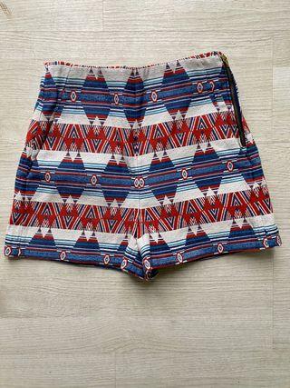 Bermudas pantalón corto estampado ZARA S