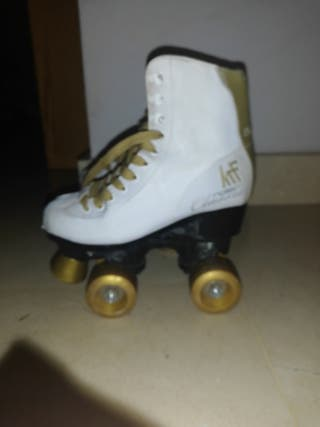 patines 4 ruedas blancos (roller clasic KTF)