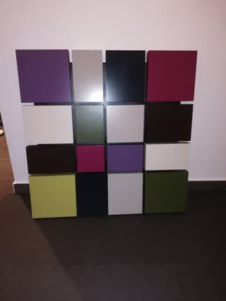 Cuadro de cuadros colorido