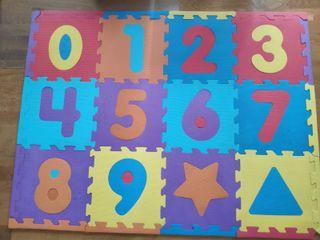 Puzzle alfombra foam numéricas y formas. Bruin.