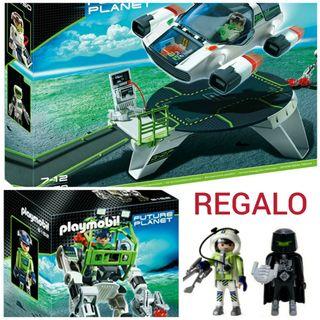 Nave espacial y robot PLAYMOBIL