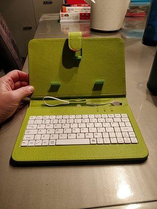 Teclado USB y funda para TABLET de 8 pulgadas