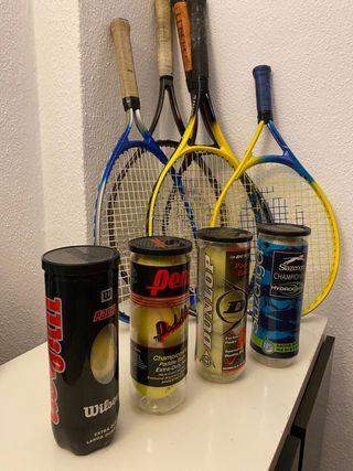 Raquetas de tenis + pelotas de regalo