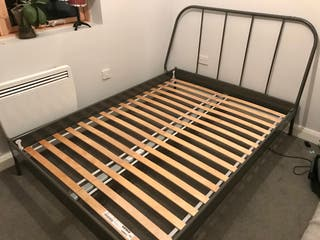Doble Bed Frame and Mattress