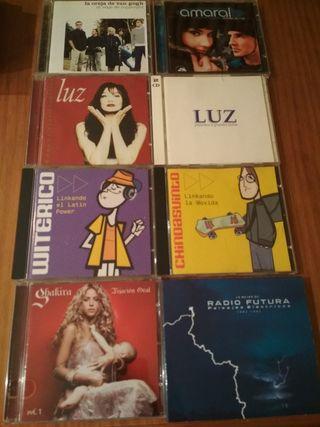 Lote 14 CD artistas latinos