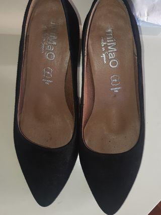 zapatos urban negros mimao piel