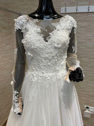 Precioso vestido de novia princesa