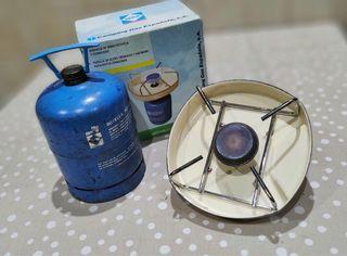 Hornillo de camping gas con bombona