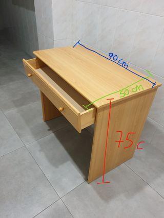 vendo escritorio madera haya+silla