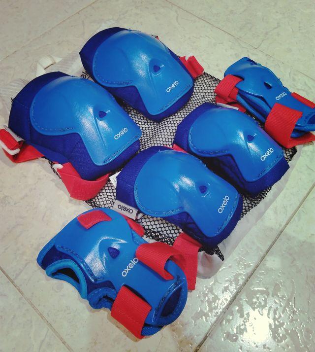 Juego de protecciones roller niño
