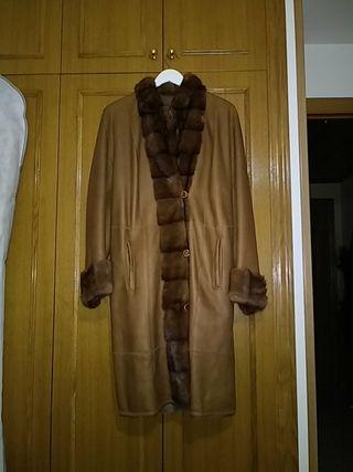 abrigo de mouton y vison