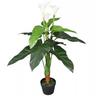 Planta cala lilly artificial con macetero 85 cm b
