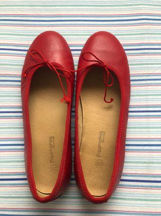 Bailarina piel roja talla 39