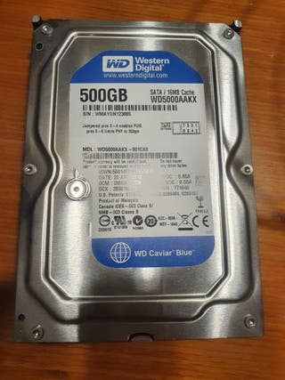 Disco duro interno WD SATA 500GB.