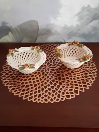 Cuencos porcelana de Manises antiguos
