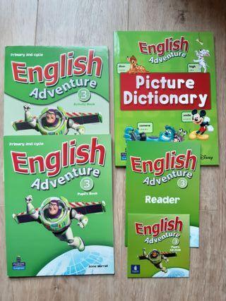 Libros inglés English Adventure 1º primaria