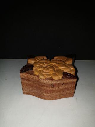 #Caja#cofre#madera#13×6×12#rosa#