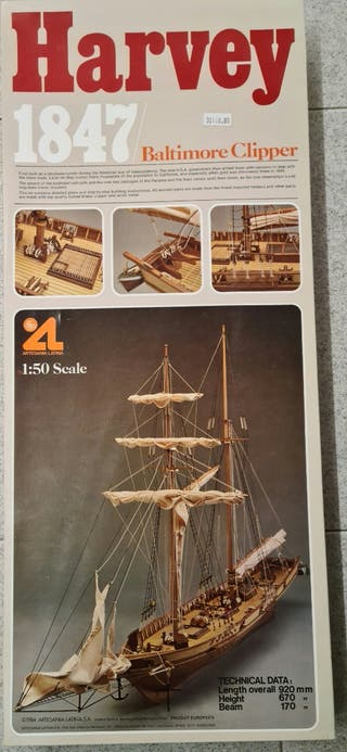 "Maqueta de barco ""HARVEY 1847 / BALTIMORE CLIPPER"""