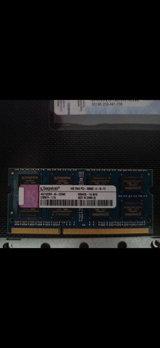 memoria RAM portatil ddr3