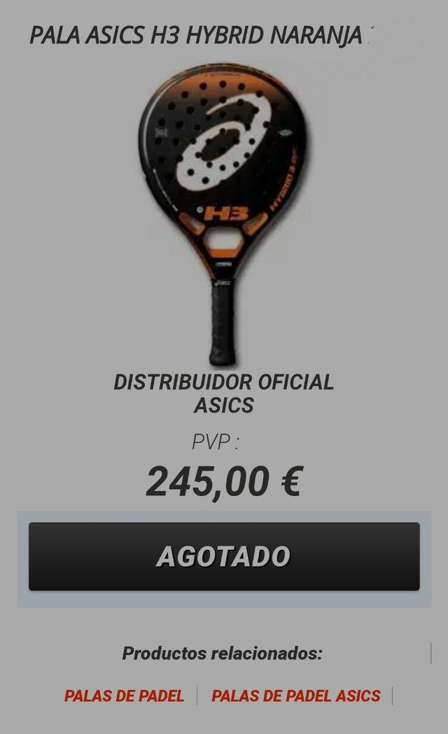color directorio estera  Pala de pádel Asics hybrid h3 de segunda mano por 100 € en Madrid en  WALLAPOP