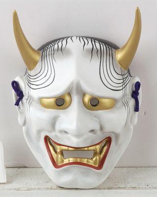 máscara de cerámica japonesa Hannya
