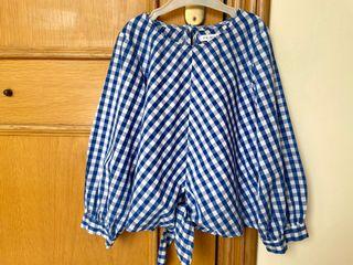 Camisa con nudo de niña, talla 6-7