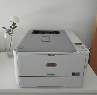 Impresora láser OKI C301dn + cartuchos