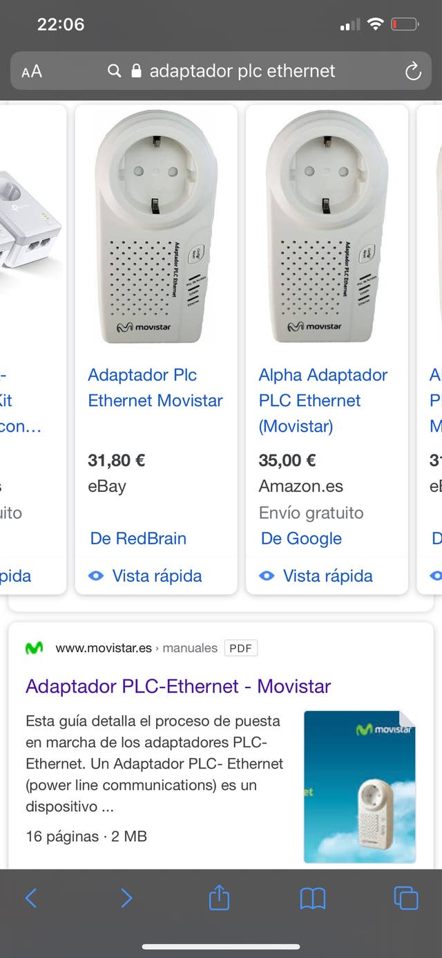 Adaptador plc ethernet