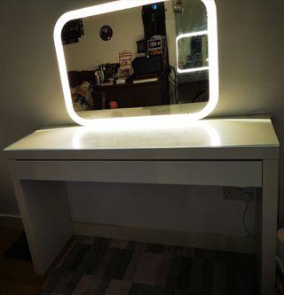 Ikea white desk & mirror