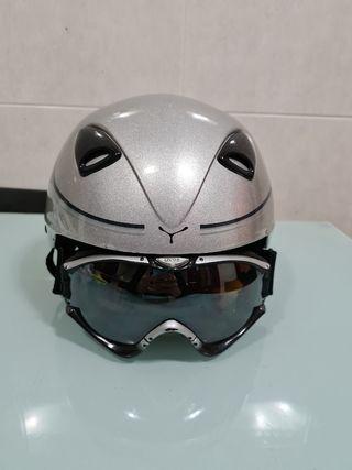 casco y gafas ventisca, snowboard esqui negociable