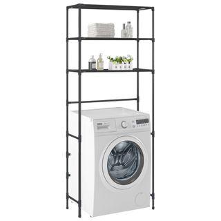 Estante encima de la lavadora 3 niveles negro 69x