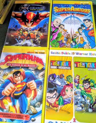Pack 8 películas: Teen Titans, X-Men, Super-amigos