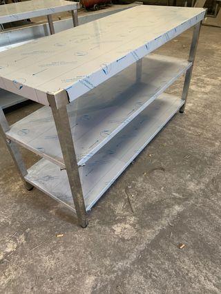 Mesa acero inox 159x58x90
