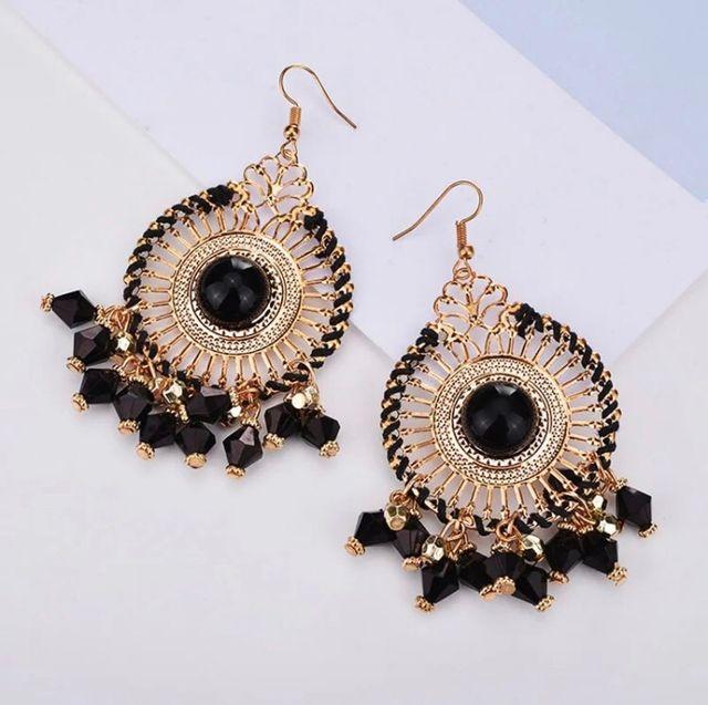 Enamel beads earrings