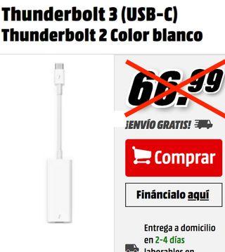 Apple Adaptador USB-C a Thunderbolt 2