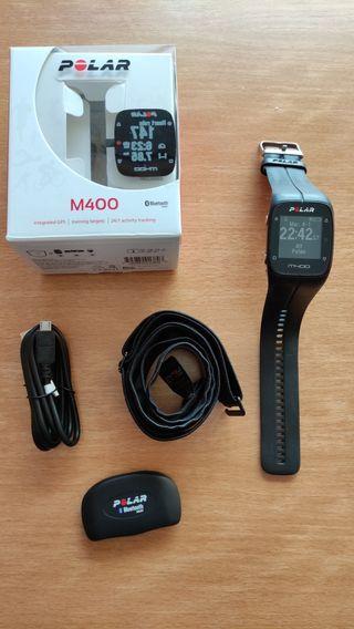 polar m400+cinta pulsómetro