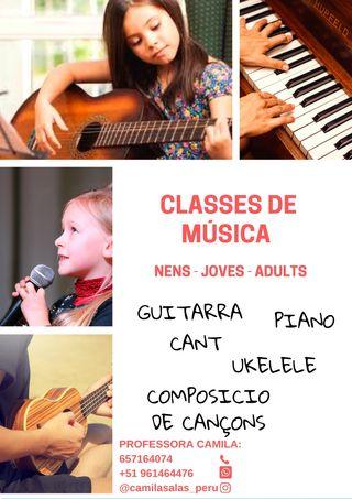 CLASES DE MÚSICA PARA TODOS